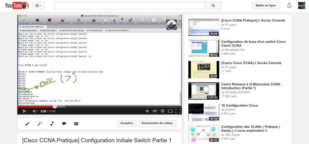 Formation Cisco CCNA: Accédez aux cours gratuits proposés sur la chaîne Youtube IP Logos!