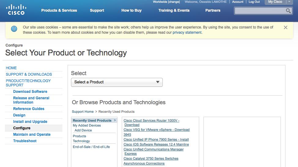 Point d'entrée pour accéder à la documentation Cisco
