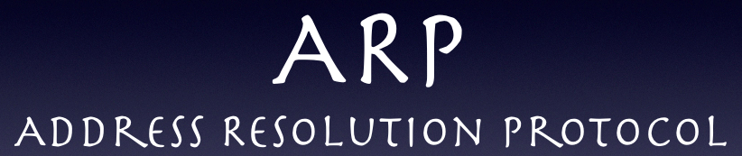 ARP = Address Resolution Protocol