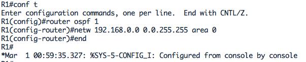 Configuration OSPF pour le router R1