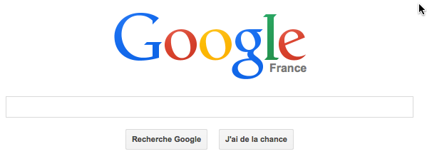 Page web google.fr
