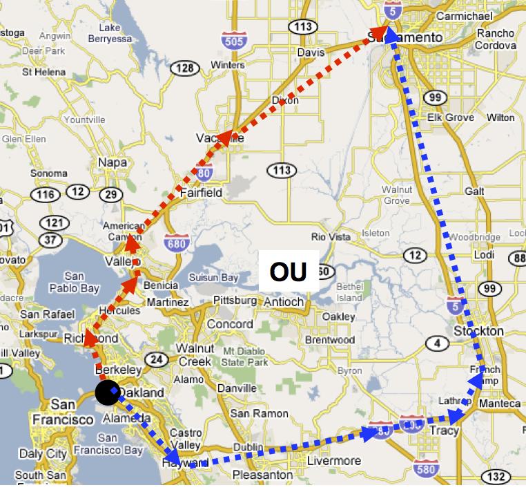 Cartographie pour choisir le chemin