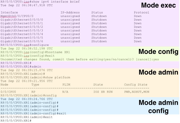 IOS-XR modes
